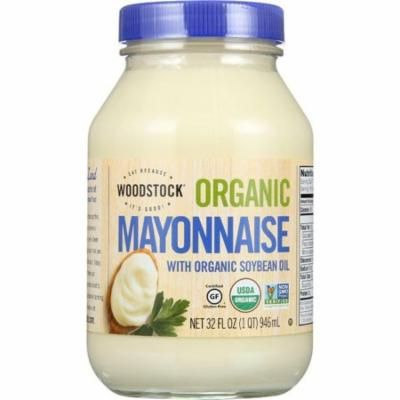 Woodstock Mayonnaise - Organic - With Organic Soybean Oil - Jar - 32 Oz - pack of 12