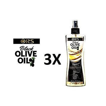 [ PACK OF 3] ORS BLACK OLIVE REPAIR7 LEAVE-IN CONDITIONER 8.5 OUNCE EA: Beauty