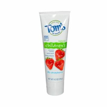 Toms Of Maine 0127191 Silly Strawberry Childrens Natural Fluoride Toothpaste, 4.2 oz - Case of 6