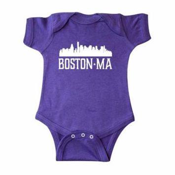 Boston Massachussetts Skyline Infant Creeper