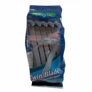 Crystal Comfort Coated Twin Blade Disposable Razors, 10 Ea