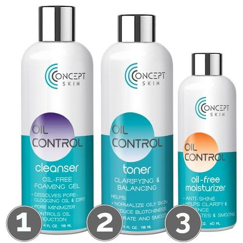 Best Hormonal Acne Treatment - Oily Skin Control and Adult Acne Regimen. 3-Step System Includes Cleanser, Mattifying Moisturizer and Toner with Tea Tree & Salicylic Acid. Sample Set.