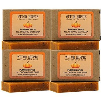 Pumpkin Spice 1oz Orgainic Bar Soap by Witch Hippie-4 pack