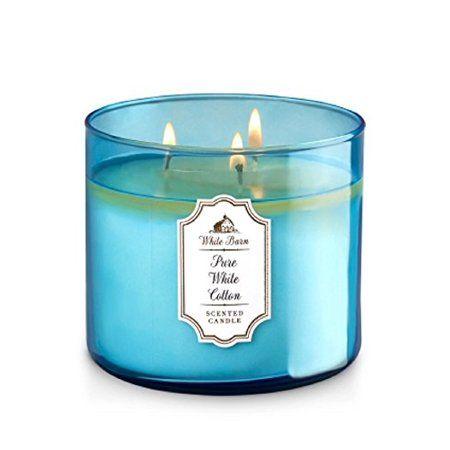 Bath & Body Works White Barn 3-Wick Candle in Pure White Cotton