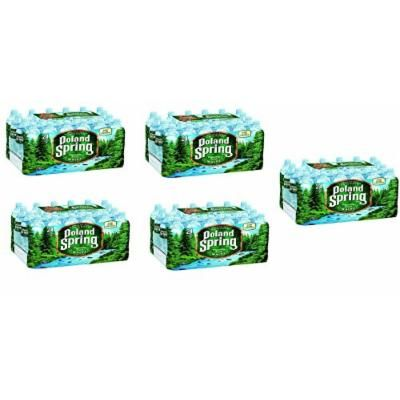 POLAND SPRING 100 Percent muEmAe Natural Spring Water, 16.9-ounce plastic bottles, 24 Pack (5 Units)