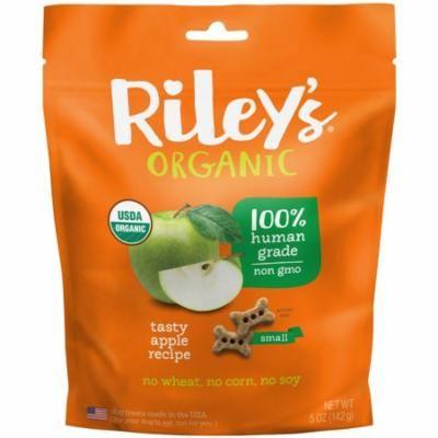 Riley's Organics, Dog Treats, Small Bone, Tasty Apple Recipe, 5 oz (pack of 6)