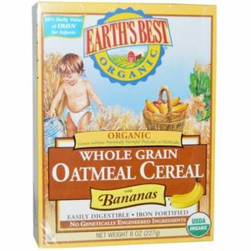 Earth's Best Organic® Whole Grain Oatmeal Cereal with Bananas