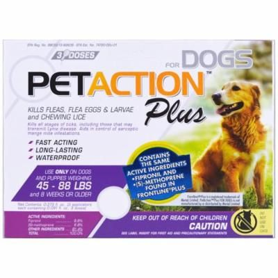 Pet Action Plus, For Large Dogs, 3 Doses - 0.091 fl oz Each(pack of 3)