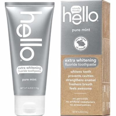 hello® Extra Whitening Fluoride Toothpaste Pure Mint