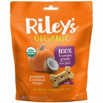 Riley's Organics, Dog Treats, Large Bone, Pumpkin & Coconut Recipe, 5 oz (pack of 3)