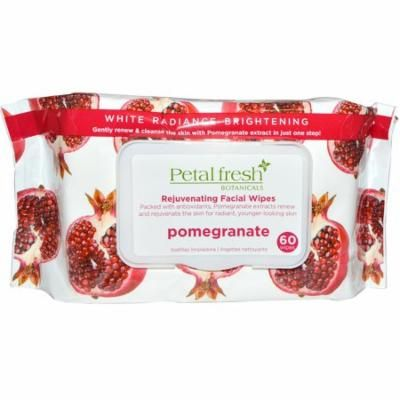 Petal Fresh, Rejuvenating Facial Wipes, Pomegranate, 60 Wipes(pack of 12)