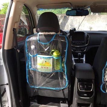 Barlingrock Car Seat Back Protector Cover for Children Kick Mat,Automotive Seat Storage Bag Organizer for Files, Children Books Pens,Bottle