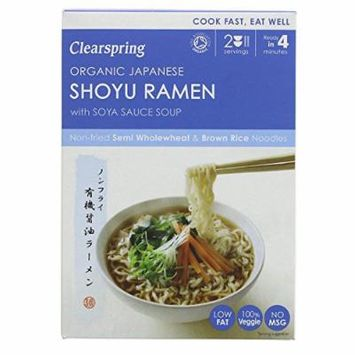 (2 PACK) - Clearspring Japanese Shoyu Ramen Noodles & Soya Sauce Soup| 170 g |2 PACK - SUPER SAVER - SAVE MONEY