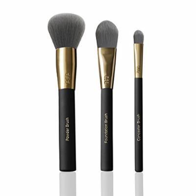 Billion Dollar Brushes Face Brush Trio 3-Piece Set with Powder Brush, Foundation Brush, and Concealer Brush