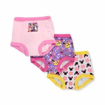 Minnie Mouse Girls' 3-Pack Training Pants & Chart Set