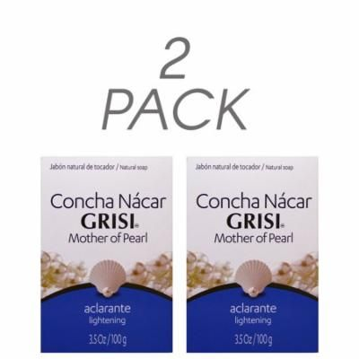 Grisi Mother of Pearl Soap Jabon Concha Nacar Lightening 3.5Oz/100g Pack of 2