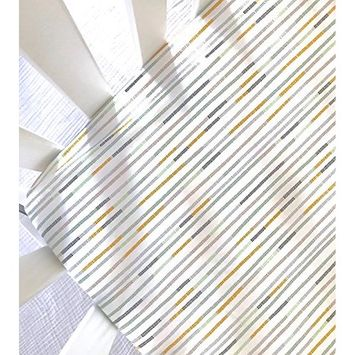 Sheets Made to Fit Stokke, Crib Sheet, Guava Lotus, 4moms Breeze, Halo Bassinet, Arms Reach Bassinet, Changing Pad Cover in Multi Stripes Embroidery Cool