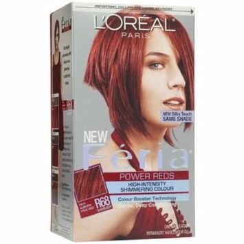 L'Oreal Feria Permanent Haircolour Gel, R68 Ruby Rush (Rich Auburn True Red)