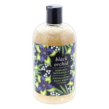 Greenwich Bay 16 Ounce Romance Botanicals Exfoliating Body Wash - Black Orchid [Black Orchid]