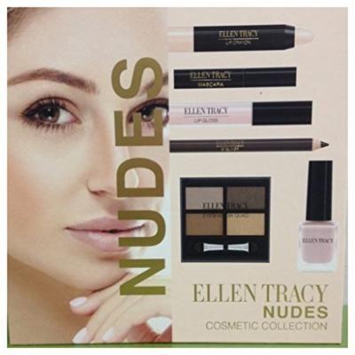 Ellen Tracy Nudes Cosmetic Collection mascara lipgloss eyeliner lip crayon nail polish eyeshadow quad