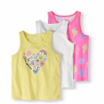 Toddler Girl Tank Tops, 3-pack