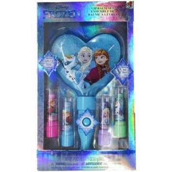 Disney Girls Multi Color Frozen Lip Balm Light Up Mirror Set