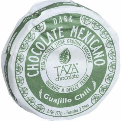 Taza Chocolate Organic Chocolate Mexicano Discs - 50 Percent Dark Chocolate - Guajillo Chili - 2.7 Oz - Pack of 12