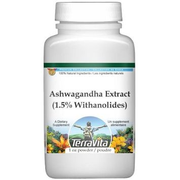 Ashwagandha (Indian Ginseng) Extract (1.5% Withanolides) Powder (1 oz, ZIN: 514065)