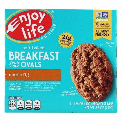 Enjoy Life Foods - Soft-Baked Breakfast Fruit & Oat Ovals Maple Fig - 5 Bars [Maple Fig]