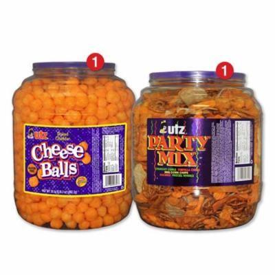 Utz Snack Barrel Variety Pack, Cheeseballs & Party Mix