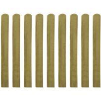Icaverne - Piquets de clôture categorie 30 pcs Lattes imprégnées de clôture Bois FSC 100 cm