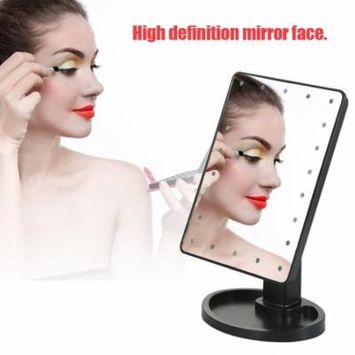 22 LED Cosmetic Makeup Mirror,Rotatable Tabletop Cosmetic Mirror with Touch Screen Lighted