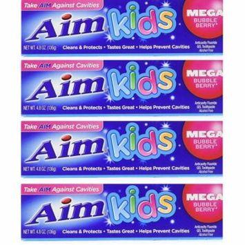 Aim Toothpaste for Kids(4) 4.8 Oz Tubes
