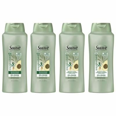 Suave Professionals Avocado + Olive Oil Shampoo and Conditioner, 28 oz, 4 count