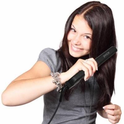 Acevivi Professional Hair Care Beauty Flat Iron Hair Straighten Styling Adjustable Temperature Black ECBY