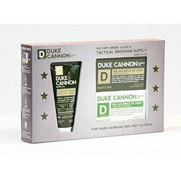 duke cannon supply co. tactical grooming supply, shower + shave gift set