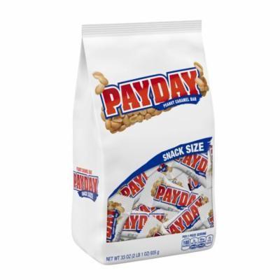 Payday, Snack Size Peanut Caramel Bars, 33 Oz