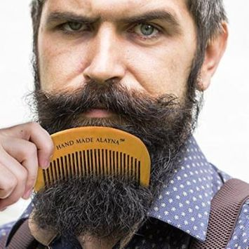 Hand Crafted 100% Wooden Beard Comb - Pocket Size Mustache Care For Men
