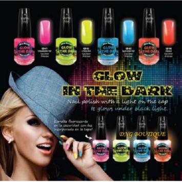 Mia Secret Multi Color NEON Glow in the Dark Nail Polish 4 colors Yellow Orange Blue Pink + FREE Temporary Body Tattoo