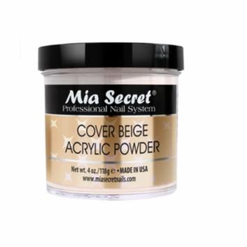 Mia Secret Cover Beige Acrylic Nail Powder 4 oz - Made in USA + Free Temporary Body Tattoo