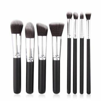 OUTAD 8pcs Cosmetic Brush Makeup Face Blusher Powder Foundation Brushes Tool Set