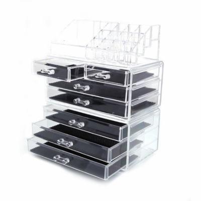 Zimtown Beauty Makeup Cosmetics Clear Jewelry Organizer Acrylic Display Box Storage US