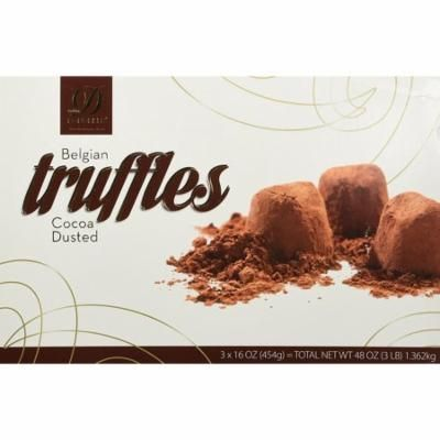 Donckels Cocoa Dusted Belgian Chocolate Truffles, 3 Count, 48 Oz