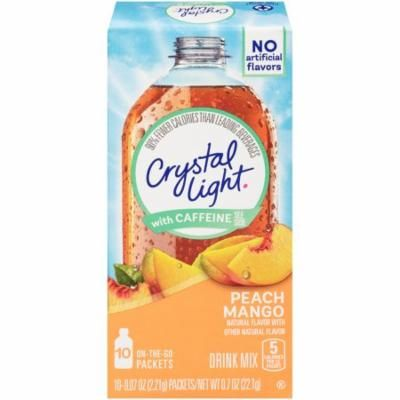 Crystal Light On-The-Go Peach Mango Drick Mix Packets, 10 Count (Pack of 12)