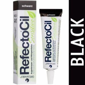 RefectoCil Sensitive Formula Eyelash & Eyebrow Tint Black Color .5oz/15mL