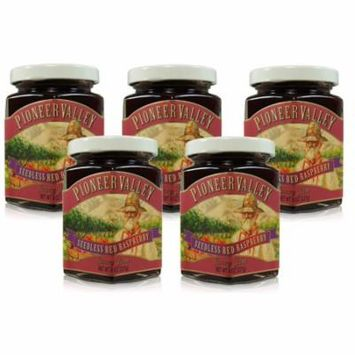 Pioneer Valley Gourmet Seedless Red Raspberry Jam 8 oz. - 5 pack