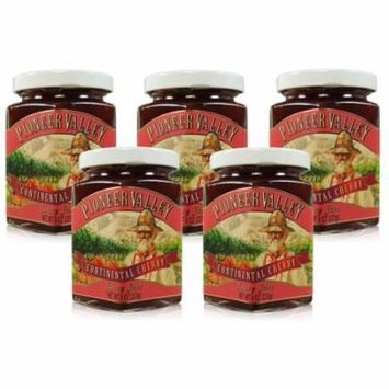 Pioneer Valley Gourmet Continental Cherry Jam 8 oz. - 5 pack