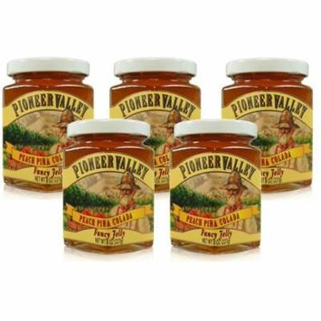 Pioneer Valley Peach Pina Colada Jelly 8 oz. - 5 pack
