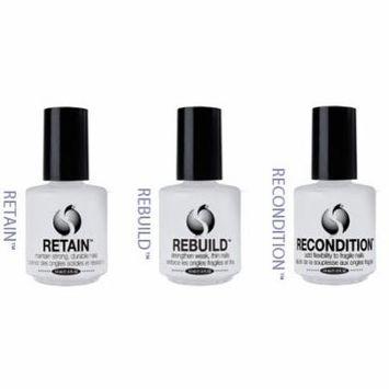 Seche Nail Treatment Hardener Strengthener RETAIN #1 REBUILD #2 RECONDITION #3