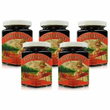 Pioneer Valley Gourmet Red Currant Jelly 8 oz. - 5 pack